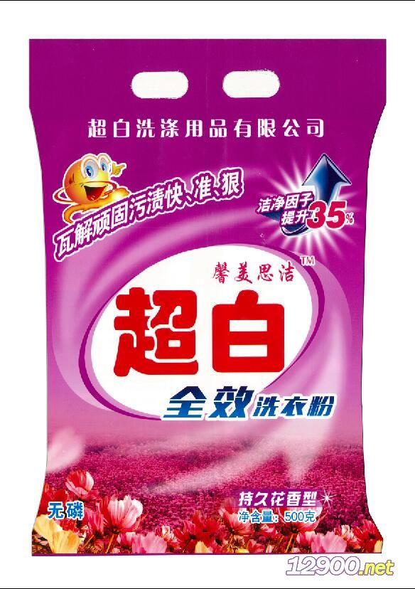 超白无磷洗衣粉500g