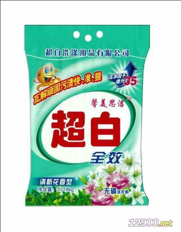 超白洗衣粉百花香型3018g
